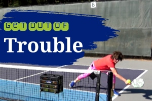 The Pickleball Dinking Game//Get Out Of Trouble With The Dump Dink
